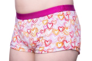 Incontinence briefs for girls - hearts